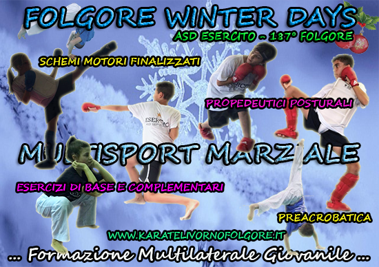"MULTISPORT MARZIALE: VIA AL ""FOLGORE – WINTER DAYS"""